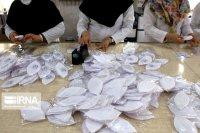 مراکز نیکوکاری زنجان ۵۰ هزار ماسک تولید و توزیع کردند