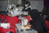 کارگاه تولید ماسک، گان و لباس ضدعفونی در قائم شهر