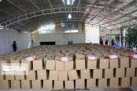توزیع کمک مومنانه در بیت الشهدای یزد