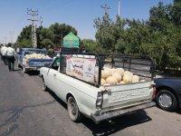 طالبی کاران ساوه کاروان زکات راه انداختند
