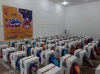 توزیع بسته آموزشی بین دانش آموزان نیازمند خوزستان