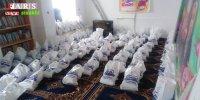 توزیع بستههای معیشتی توسط گروه جهادی شهید عمادی بین نیازمندان سیسختی