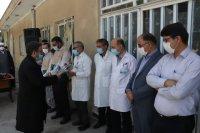 تجلیل خادمان امام رضا(ع) از مدافعان سلامت در ساوه
